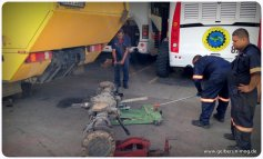 Unimog Hinterachse ausgebaut bei Scania